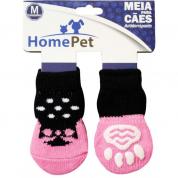 Meia Antiderrapante Cachorros Sapato Rosa M HomePet