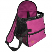 Mochila de Transporte Dog Bag Gatos e Cachorros Pequeno Porte Rosa