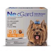 NexGard Antipulgas e Carrapatos P Cães 2 a 4kg 3 comprimidos