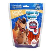 Osso Palito Flexível Mister Bone Morango Cachorros 500g