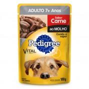 Imagem - Pedigree Sachê Cães Adultos 7+ Anos Sabor Carne ao Molho 100g
