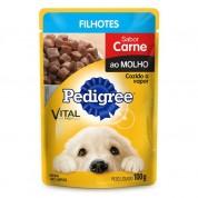 Pedigree Sachê Cães Filhotes Sabor Carne ao Molho 100g