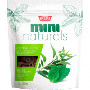 Petisco Bassar Mini Naturals Dental Fresh Menta e Eucalipto Cachorros 300g