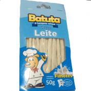 Petisco Osso para Cães Filhotes Sabor Leite Batutas 50g