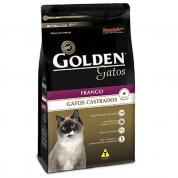 Promoção BIG! Leve 10% Grátis! Ração Golden Gatos Adultos Castrados Frango 3kg