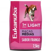 Ração Eukanuba Light Cães Raças Médias 7,5kg