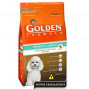Ração Golden Fórmula Adulto Frango e Arroz Mini Bits 3kg