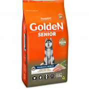 Ração Golden Fórmula Cachorros Adulto Senior Frango e Arroz 15kg