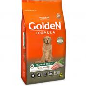 Ração Golden Fórmula Cachorros Adultos Frango e Arroz 15kg