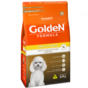 Ração Golden Fórmula Cachorros Adultos Peru e Arroz MiniBits 3kg