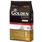 Imagem - Ração Golden Gatos Adultos Carne 3kg