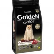 Ração Golden Gatos Adultos Castrados Carne 10,1kg