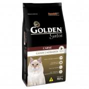 Ração Golden Gatos Adultos Castrados Sabor Carne 10,1kg