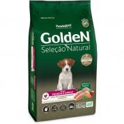 Ração Golden Seleção Natural Cachorros Filhotes Frango e Arroz  Mini Bits 10,1kg