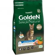 Ração Golden Seleção Natural Gatos Adultos Castrados Frango, Abóbora e Alecrim 10,1kg