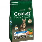 Ração Golden Seleção Natural Gatos Adultos Castrados Frango, Abóbora e Alecrim 1kg