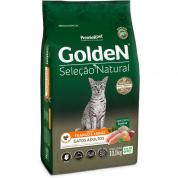 Ração Golden Seleção Natural Gatos Adultos Frango e Arroz 10,1kg