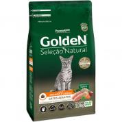 Ração Golden Seleção Natural Gatos Adultos Frango e Arroz 1kg
