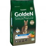 Ração Golden Seleção Natural Gatos Adultos Frango e Arroz 3kg