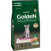 Ração Golden Seleção Natural Gatos Filhotes Frango e Arroz 3kg