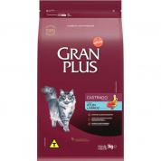 Ração Gran Plus Atum e Arroz Gatos Castrados 3kg