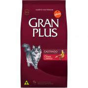 Ração Gran Plus Carne e Arroz Gatos Castrados 10kg