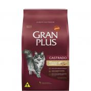 Ração Gran Plus Frango e Arroz Gatos Castrados 1kg