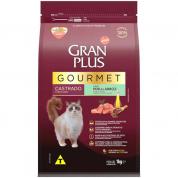Ração Gran Plus Gourmet Peru e Arroz Gatos Castrados 1kg