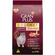 Ração Gran Plus Gourmet Salmão e Frango Gatos Castrados 1kg