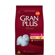 Ração Gran Plus Menu Frango e Arroz Cachorros Adultos Mini 1kg