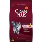Ração Gran Plus Salmão e Arroz Gatos Castrados 10,1kg