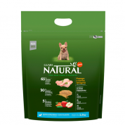 Ração Guabi Natural Cachorros Filhotes Raças Pequenas e Mini Frango e Arroz Integral 2,5kg