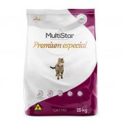 Ração Multi Star Cat Mix Gatos Adultos Carne, Frango e Peixe 15kg