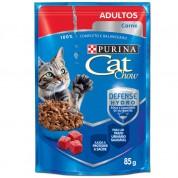 Alimento Úmido Sachê Purina Cat Chow Adultos Carne ao Molho 85g