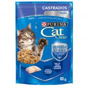 Alimento Úmido Sachê Purina Cat Chow Castrados Peixe ao Molho 85g