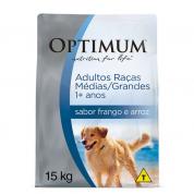 Ração Optimum Frango e Arroz Cachorros Adultos Raças Médias e Grandes 15kg