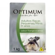 Ração Optimum Frango e Arroz Cachorros Adultos Raças Pequenas e Mini 1kg
