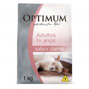 Ração Optimum Gatos Adultos Carne 1kg
