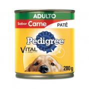 Imagem - Ração Pedigree Carne Adulto Lata 280g