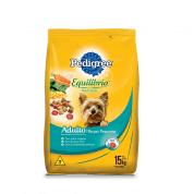 Ração Pedigree Equilíbrio Natural Cachorros Adultos Raças Pequenas 15kg