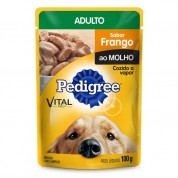 Imagem - Ração Pedigree Frango ao Molho Adulto Sachê 100g
