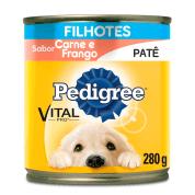 Ração Pedigree Junior Carne e Frango Lata 280g