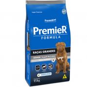Ração Premier Fórmula Cachorros Senior Raças Grandes Cordeiro 15kg