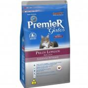 Ração Premier Gatos Adultos Pelos Longos Ambientes Internos Frango 1,5kg