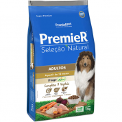 Ração Premier Seleção Natural Cachorros Adultos Frango 12kg