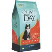 Ração Qualiday Gatos Castrados Frango, Arroz e Vegetais 3kg