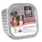 Ração Úmida Patê de Carne Three Dogs Premium Especial Paladar Exigente 150g
