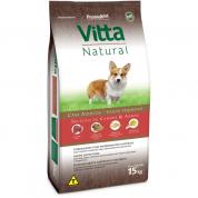 Ração Vitta Natural Cachorros Adultos Raças Pequenas Carnes e Arroz 15kg