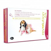 Revolution 6% Cães e Gatos até 2,5kg - Caixa com 3 Unidades