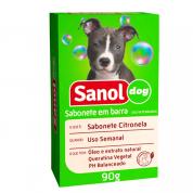 Sabonete Gatos e Cachorros Citronela Sanol Dog 90g